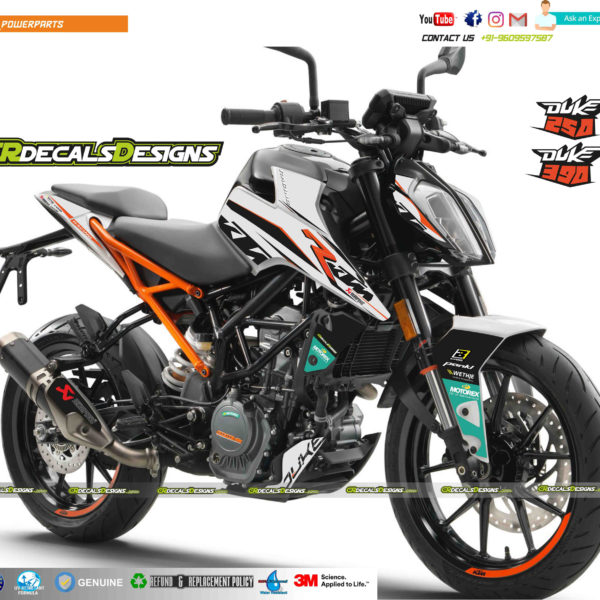 1101 ktm duke 125 250 390 akrapovic edition kit white cr. Black Bedroom Furniture Sets. Home Design Ideas
