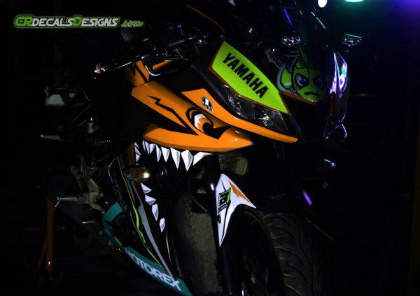 R15 v3 Shark Neon Orange 2