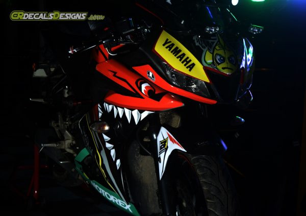 YAMAHA R15 v3 Custom Decals Wrap Stickers VR46 SHARK Edition