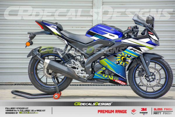 YAMAHA R15 v3 Custom Decals Wrap Stickers VR 46 RACE Kit