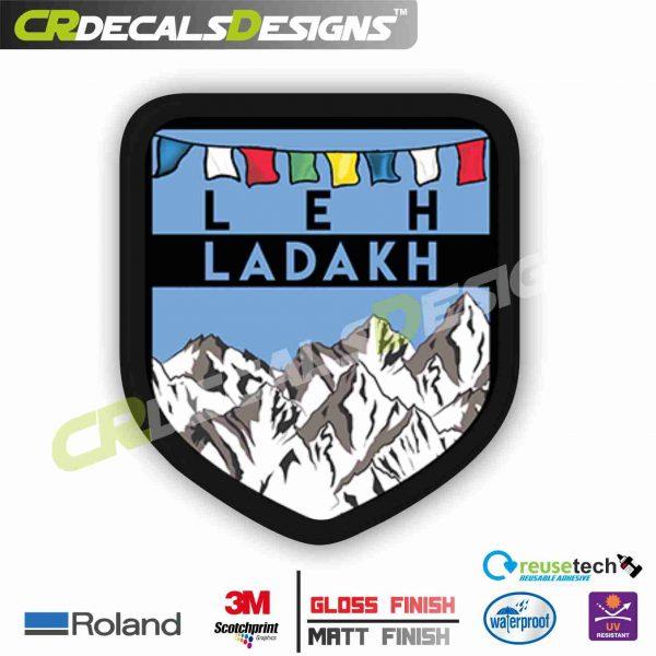 LEH LADAKH   Sticker Logo [STICK On Motorcycle, Car, Laptop, Notebook And  Mobile Phone]