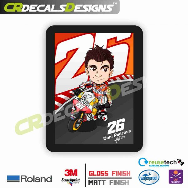 DANI PEDROSA 26 | Sticker Logo [STICK On Motorcycle, Car, Laptop, Notebook  And Mobile Phone]