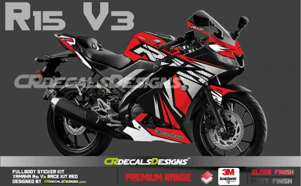 YAMAHA R15 v3 Custom Decals Wrap Stickers RACE Edition Kit