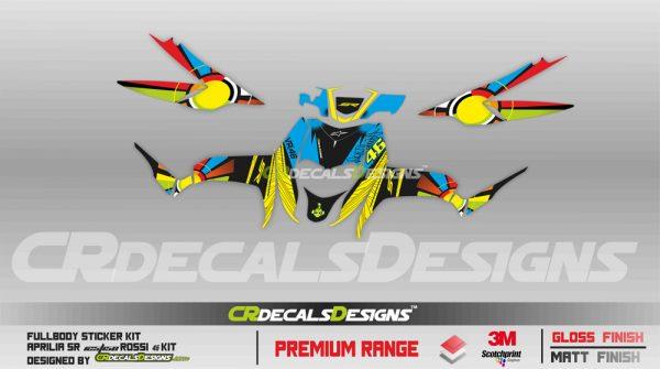 Aprillia full body kit Rossi 46 Kit 3